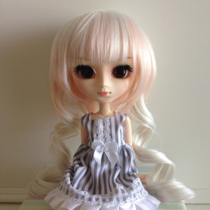 CanCan Wig (White + Pale Pink): $15